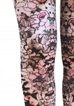 Rose tights Fantaisie Marie Antoilette