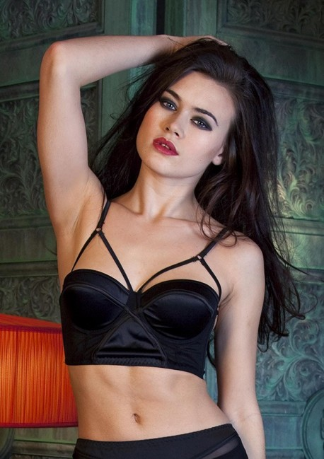 Black bustier bra Dominique - Playful Promises
