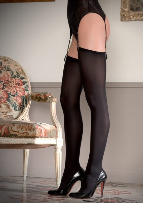 Opaque cut and curled stockings Les Coquetteries - Maison Close