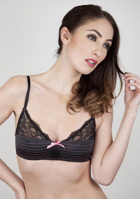 Bralette with topstitches Neon Eve - Playful Promises