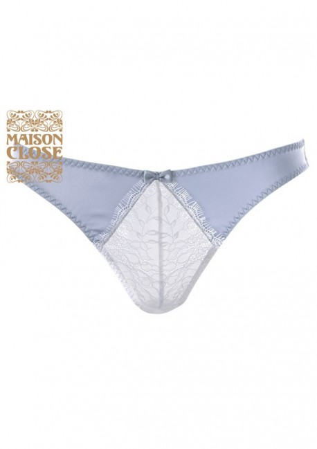 Culotte satine grise Villa Satine - Maison Close