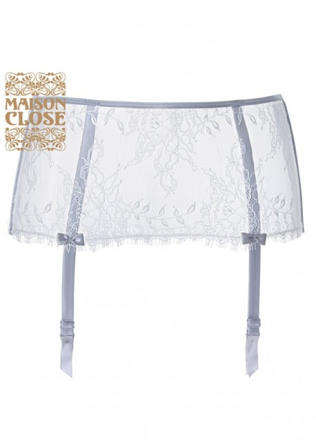 Porte-jarretelles satine Villa Satine Maison Close