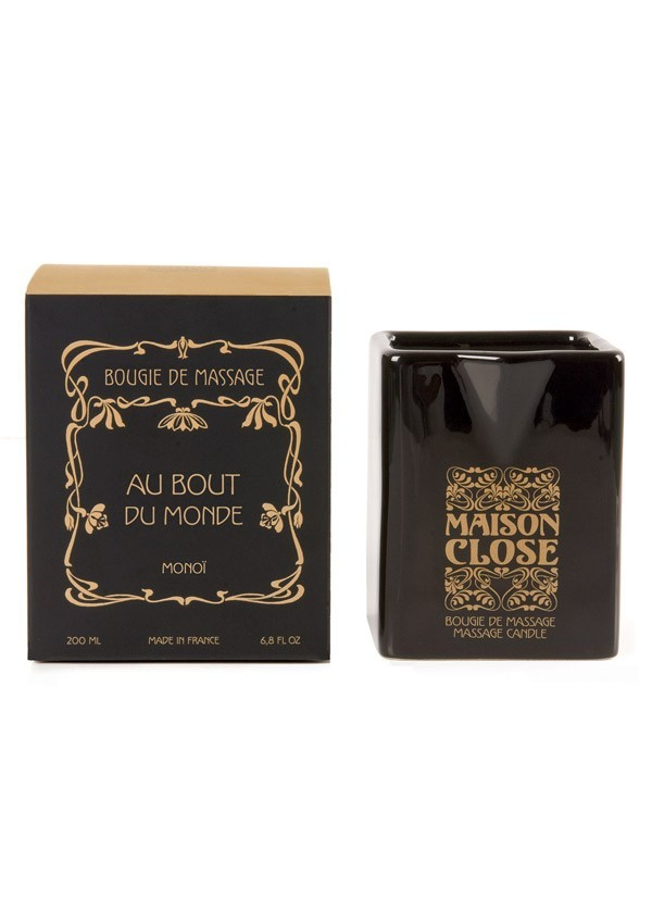 Au bout du monde monoï massage candle Les Bougies - Maison Close