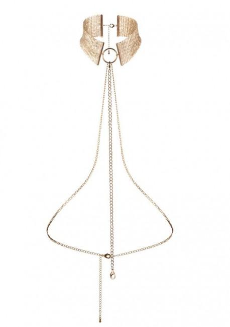 Désir golden mesh collar harness Désir métallique - Bijoux Indiscrets