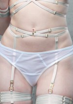 White suspender belt with strapsFlash You And Me