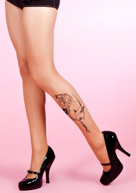Tattoo bird tights Fantaisie - Mirey