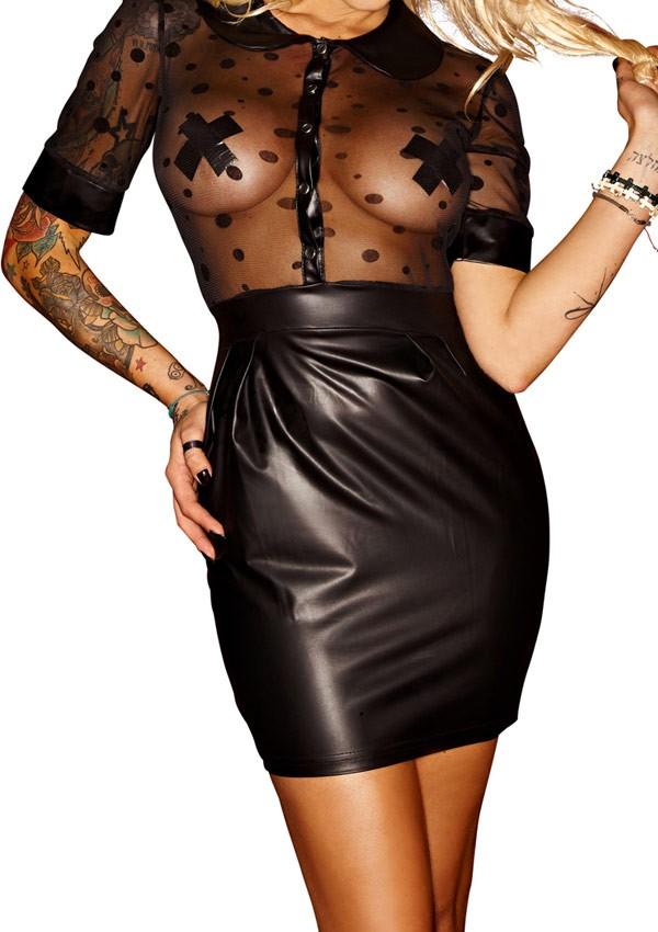 Robe courte Bad Stylish Good girls bad, bad girls worse - Noir Handmade