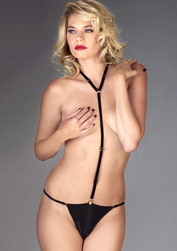 The black harness Les Fétiches - Maison Close
