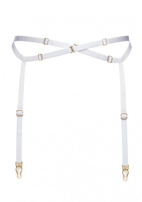 White suspender belt with straps - Flash You And Me