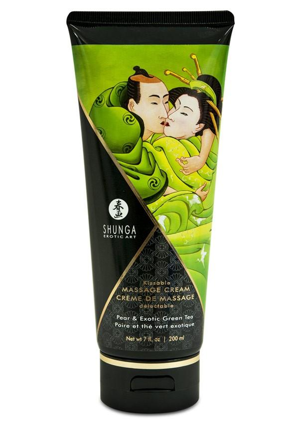Pear & green tea delectable massage cream - Shunga