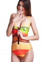 Maillot de bain 1 pièce zippé HamburgerHamburgerMr Gugu & Miss Go