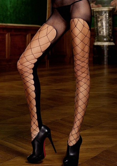 Black large fishnet tights The originals - Baci