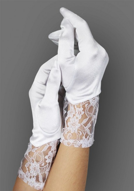 White gloves with lace - Baci