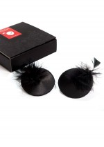 Black nippies with feathers Bijoux Indiscrets
