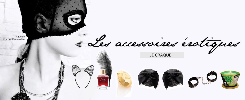 Les accessoires érotiques chez Wild lingerie